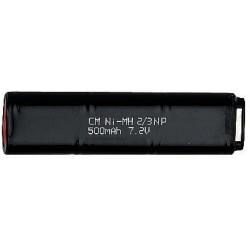 Battery, 7,2V 500 mAh, 15919/16492/17508