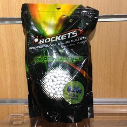 Bille airsoft Rockets 0.25GR - 2000 Billes BIO