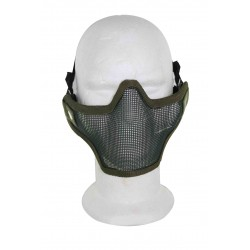 Airsoft Strike Half Face Tactical Military Bravo Strike Wire Mesh Mask(OD)