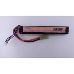 BATTERIE LIPO 7.4V 15C 1300mAh 1 stick