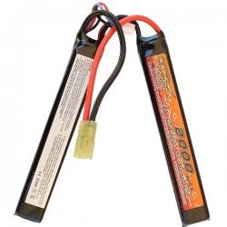 BATTERIE LIPO 7.4V 15C 2000mAh 2 sticks