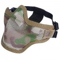 Airsoft Strike Half Face Tactical Military Bravo Strike Wire Mesh Mask Camo