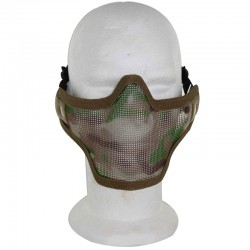 Airsoft Strike Half Face Tactical Military Bravo Strike Wire Mesh Mask(Camo)