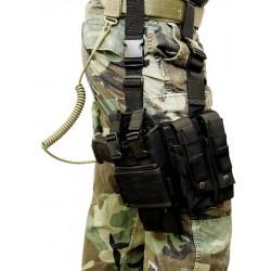 Holster de cuisse, MP5K-M11-MP7-Vz61, ajust., noir