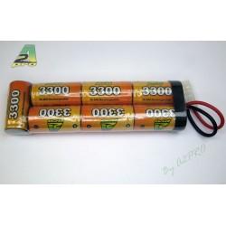 A2P - Batterie NimH Type Large -8.4V 3300 mAh