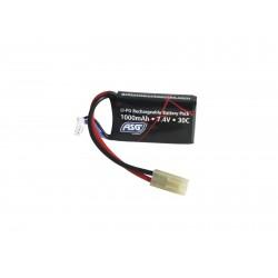 ASG - Batterie Lipo 7.4v - 1000Mah - 30C - Connecteur Mini Tamiya