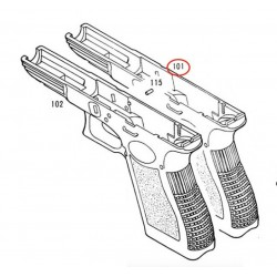 Frame for KSC / KWA Glock 17 / G18C