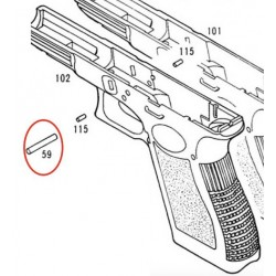 Central Pin for KSC / KWA Glock