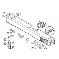 Rear Sight for KSC / KWA Glock