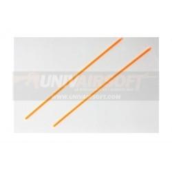 Orange Optical Fiber