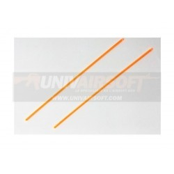 Orange Optical Fiber