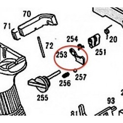Selector Lever Hook for KSC / KWA Glock 18C