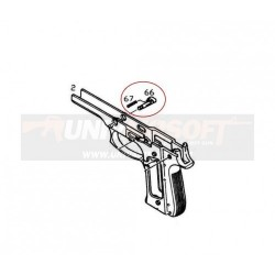Disassembling Latch Release button for KJW M9