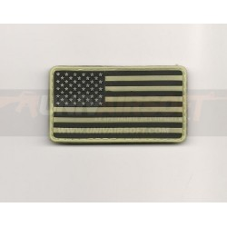 Phosphorescent USA Velcro Patch