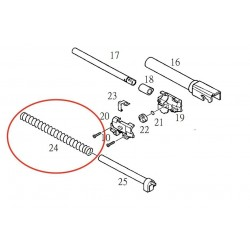 Recoil Spring for KJW KP-02 P229