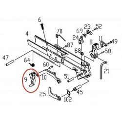 Trigger for KJW / ASG CZ75 P09
