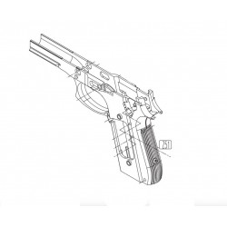 Frame for KWC KCB-15 / PT92 / PT99