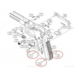 Chassis Pins for KWC KCB-15 / PT92 / PT99
