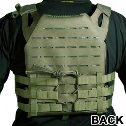 GILET PLATE CARRIER COUPE AU LASER OD DELTA TACTICS V18 + 2 PLAQUES DE PROTECTION DUMMY