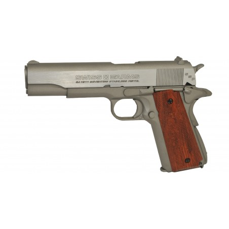 SWISS ARMS 1911 SEVENTIES STAINLESS PISTOL 4,5mm culasse mobile /C6