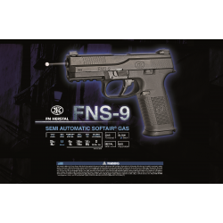 FN FNS-9 Gaz BAX 6mm culasse metal mobile 22BB's 0,8 J