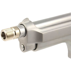 WE pistols silencer adaptor - short, stainless steel