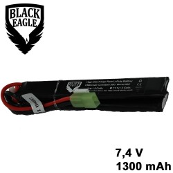 1300mah 7.4V 30C lipo battery nunchuck type with small taniya