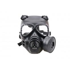 Sweat prevent mist fan mask - black